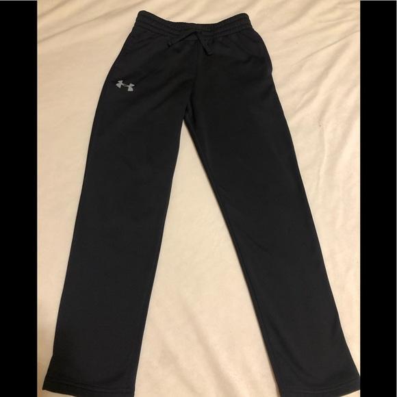 NWT Under Armour Boys M Dark Gray//Black Cold Gear Pants YMD